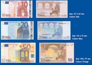 Doors and Bridges on Euro notes