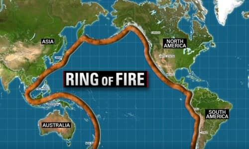 Ring of Fire – earthquake zone.