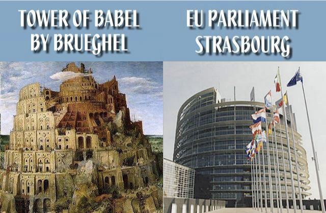 Tower of Babel vs EU Parliament